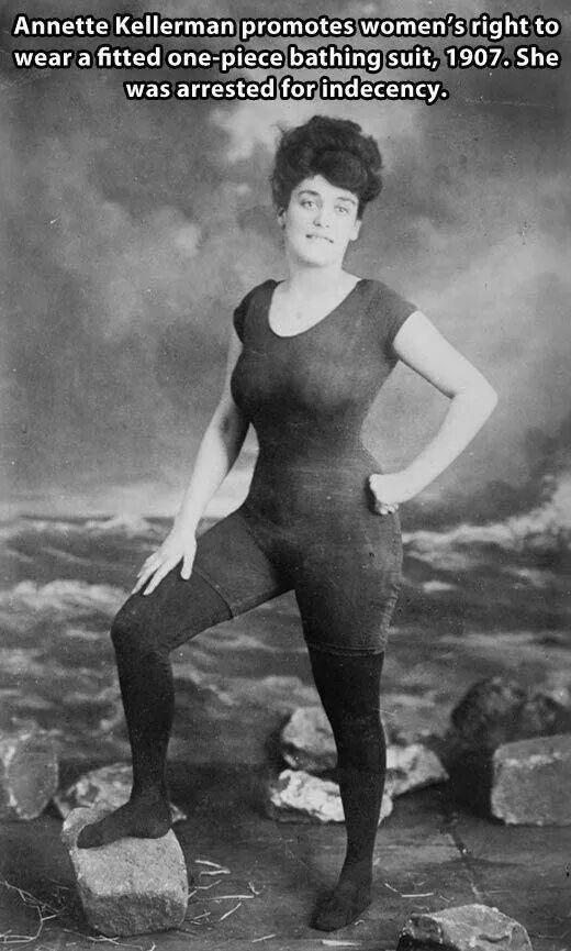 """After her attempt to be the first woman to swim the English Channel, and performing for kings and queens, she went on to pioneer the modern woman's bathing suit, which led to her arrest in the U.S."""" -- School Library Journal"""