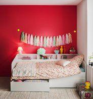 Une chambre d'enfant avec un mur plein de peps - Marie Claire Maison