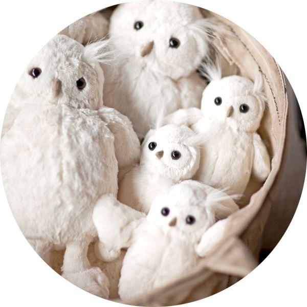 peluche petit hibou blanc .:serendipity.fr:.