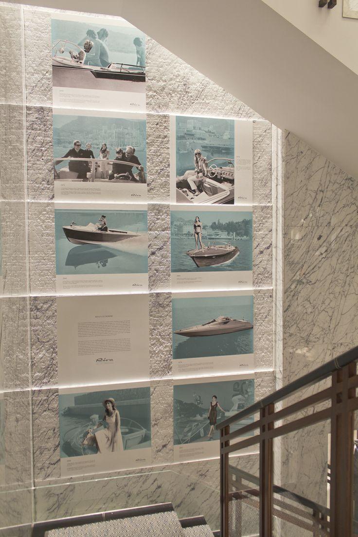 """Larusmiani Concept Boutique – Worldwide Preview Aquariva 8th – 13th April Photographic exhibition """"Riva e le donne"""" #Larusmiani #rivayacht #fuorisalone #FDW9 #designweek @FerrettiGroup"""