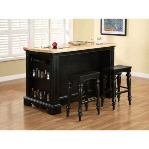 Home Styles Grand Torino 3 piece Kitchen Island & Stools Set - A convenient, central spot to prep and serve food, enjoy meals, and store a variety of kitchen gear is what you get with the Home Styles Grand Torino...