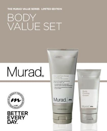 Increase your skin's overall appearance, elasticity and firmness with this body care duo. The first ever Body Care Value Set, purchase the Firm and Tone Serum and we will give you a travel size Firming Body Cream!