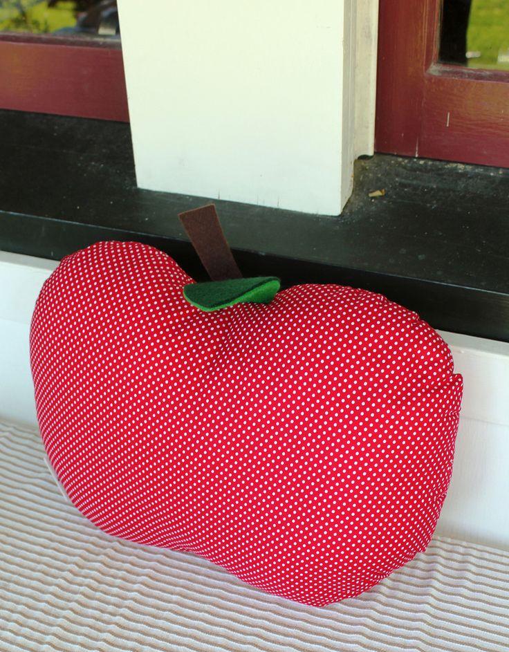 Gorgeous red, polka dot Apple Cushion.