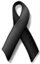 Lazo negro por las víctimas del terrorismo