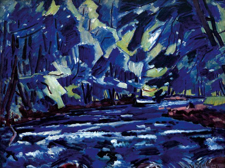 Václav Špála (Czech, 1885-1946), Rapids on the Orlice river, 1928. Oil on canvas, 89 x 116cm.