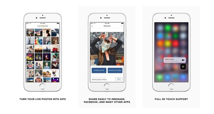 Live GIF turns Live Photos from an iPhone 6s or 6s Plus into looping GIFs