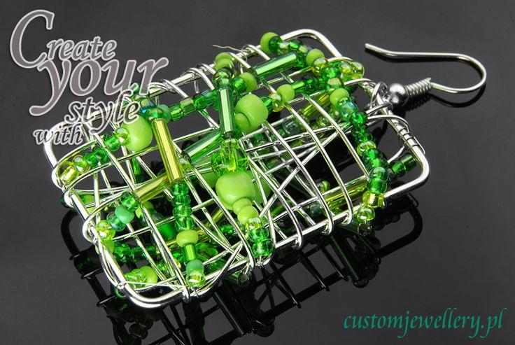 #Kolczyki z #koralików #czeskich i półfabrykatów do #biżuterii dostępne na www.customjewellery.pl