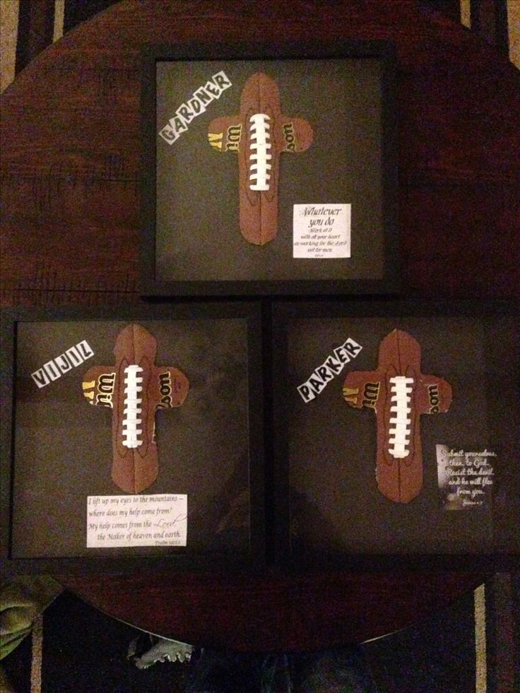 Football gifts I made for a few La Vernia high school football players.