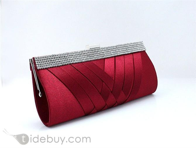 High Quality Silk Cloth Evening Handbags/Wedding Handbags Available for More Colors   US$ 28.49