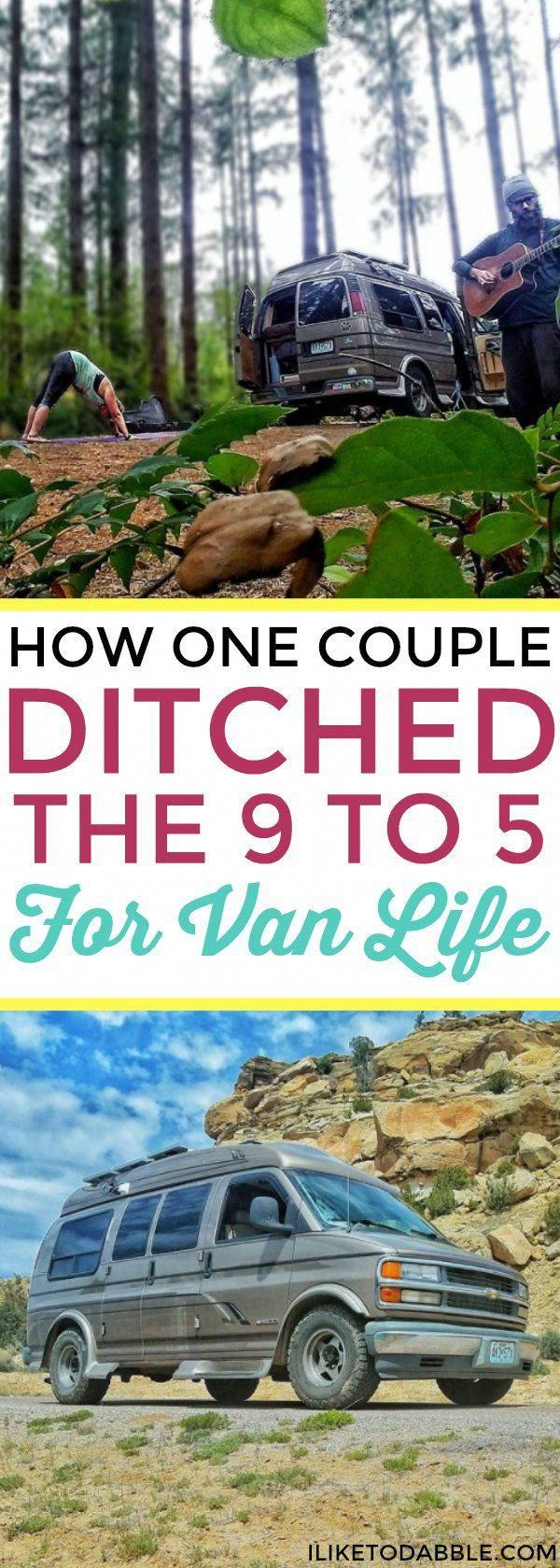 How one couple ditched the 9 to 5 for van life. Van life. Travel full time. Van …