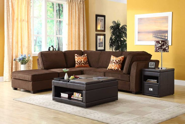 Brown Sectional Sofa for Living Room Furniture - AyuHomes.com