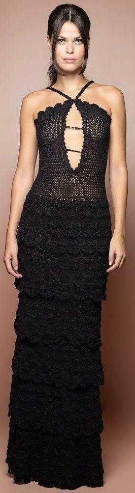 Vanessa Montoro crochet dress: Lovely but simple design. I think I actually…