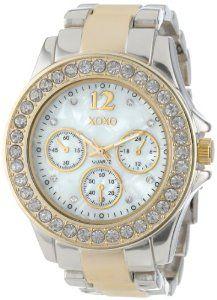 XOXO Women's XO5653 Two-Tone Bracelet Analog Watch   watches.reviewatoz.com