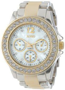 XOXO Women's XO5653 Two-Tone Bracelet Analog Watch | watches.reviewatoz.com