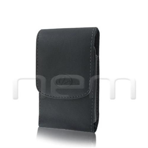 Black Vertical Leather Clip Side Holster Case Pouch For BlackBerry Curve 3G 9300
