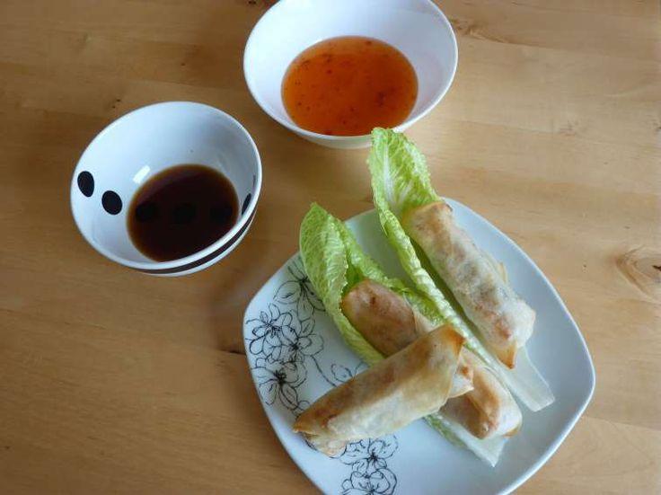Forårsruller med glasnudler og grøntsager | fensi chunjuan | 粉丝春卷
