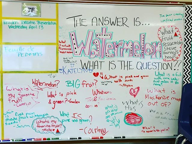Interesting.. Give an answer, students think of appropriate question!