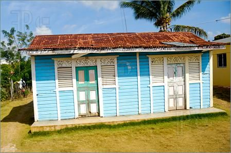 caribbean homes | Picture of Classical caribbean wooden house. Dominican Republic.