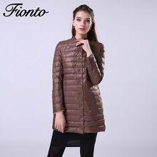 FIONTO Nuevo Invierno Jacket Women Coat Slim Down Parkas 2016 Venta caliente Mujeres Duck Down Jacket Coats Mujeres Abrigo Exterior F009(China (Mainland))