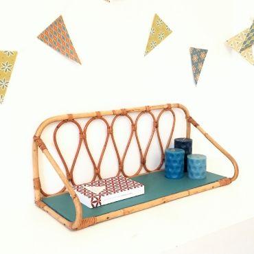 Pernelle, l'étagère en rotin vintage rénovée par Chouette Fabrique