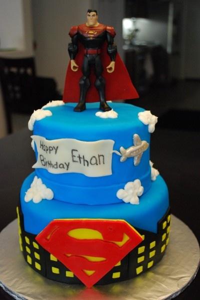 Superman-Birthday-Party-Cake-Ideas.jpg (400×598)