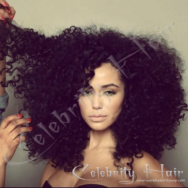 Celebrity Virgin Remy Afro Kinky Curly Brazilian Human