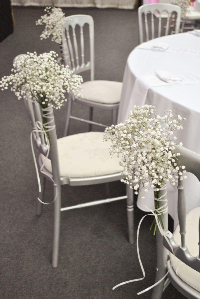 Gypsophila (baby's breath) chair decorations