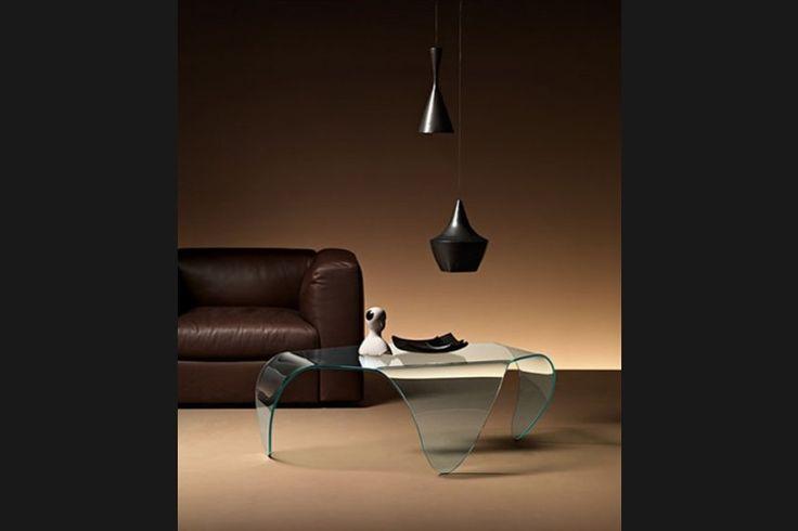 GlazenDesignTafel.nl | glazen salontafel Manta | FIAM | Italian design | design by Roberto Semprini | interior design | glass table | vidre glastoepassingen, Leiden