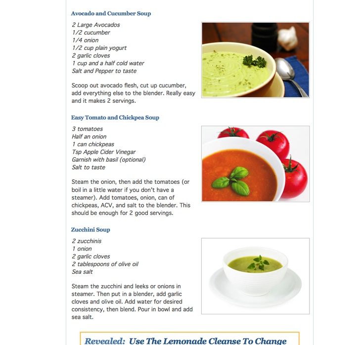 soups...i will be making these with my new ninja mixer!