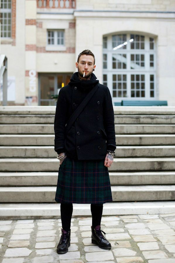 Saia masculina, tendência entre os fashionistas.