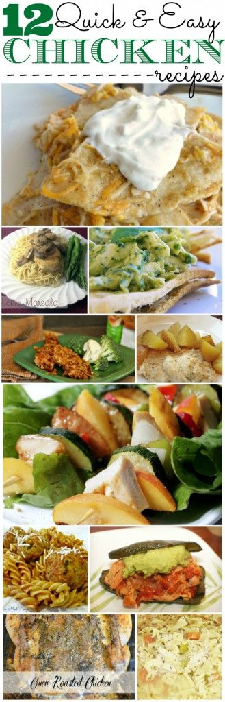 12 Quick and Easy Chicken Recipes