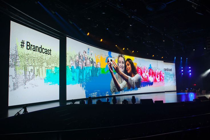Worldstage At The Google Youtube 2015 Newfront Our U3 Tiles Created A Moving Curved Led Wall