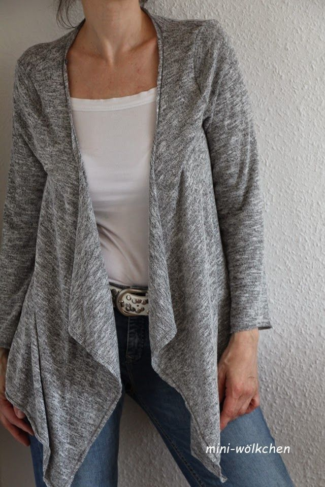 Jacke aus basic tunika klamotten tutorials pinterest for Katalog klamotten