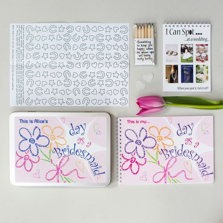 Personalised Activity Pack For Kids at Weddings - Bridesmaid