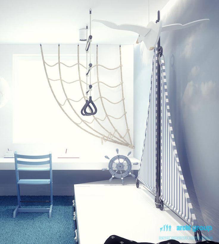 Kids room design for twins, POLAND - archi group. Pokój dziecięcy dla bliźniaków.