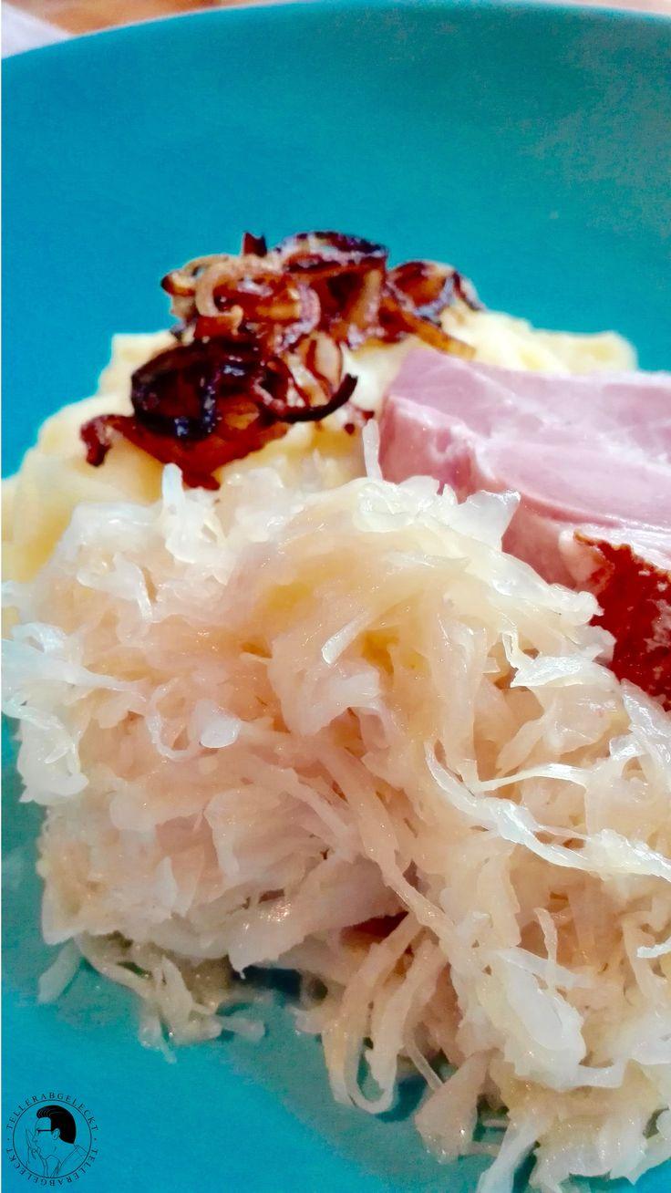 Sauerkraut mit Kassler und Kartoffelpüree