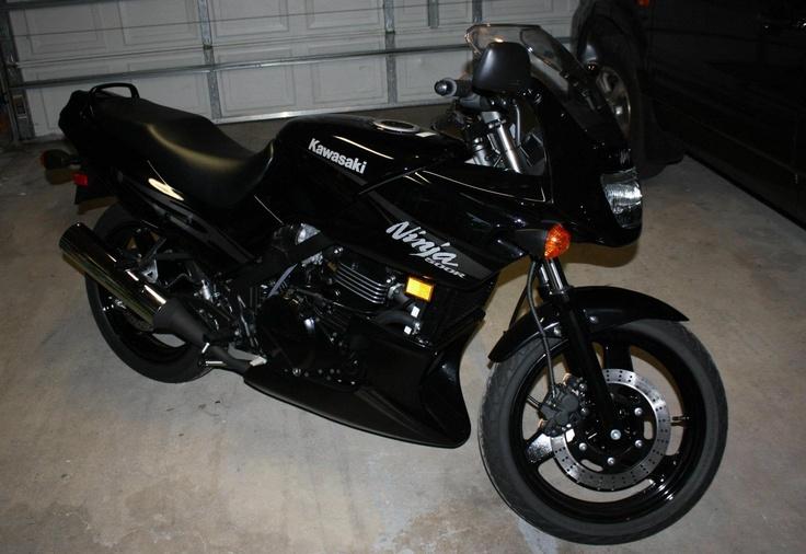 Jon rides a Kawasaki Ninja 500R