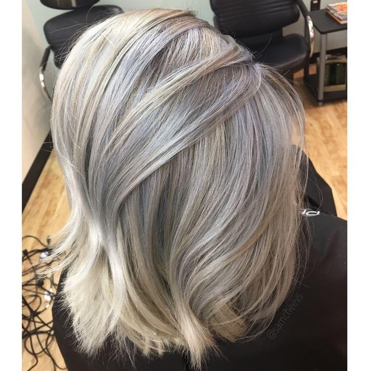 White Ice Platinum Blonde With Ashy Lowlights Hair