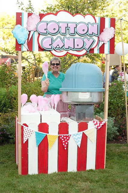 Wedding Carnival - Cotton Candy Booth by yourhomebasedmom, via Flickr