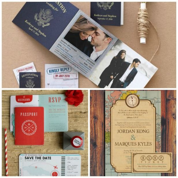 Perfect travel themed wedding ideas!