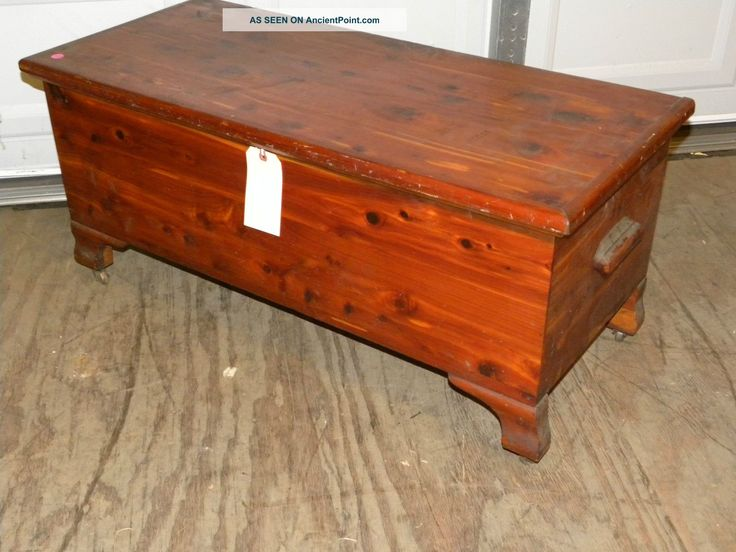 Antique West Branch Solid Cedar Bedroom Blanket Hope Chest Coffee Table  Photos And Information In AncientPoint