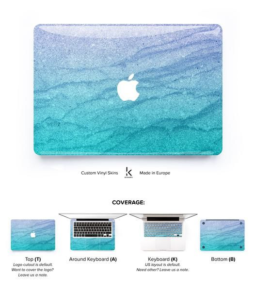 Pure and elegant designer Macbook Skin with pastel waves. Great choice for those, who need a little bit calm in their everyday life. Compliments guaranteed!