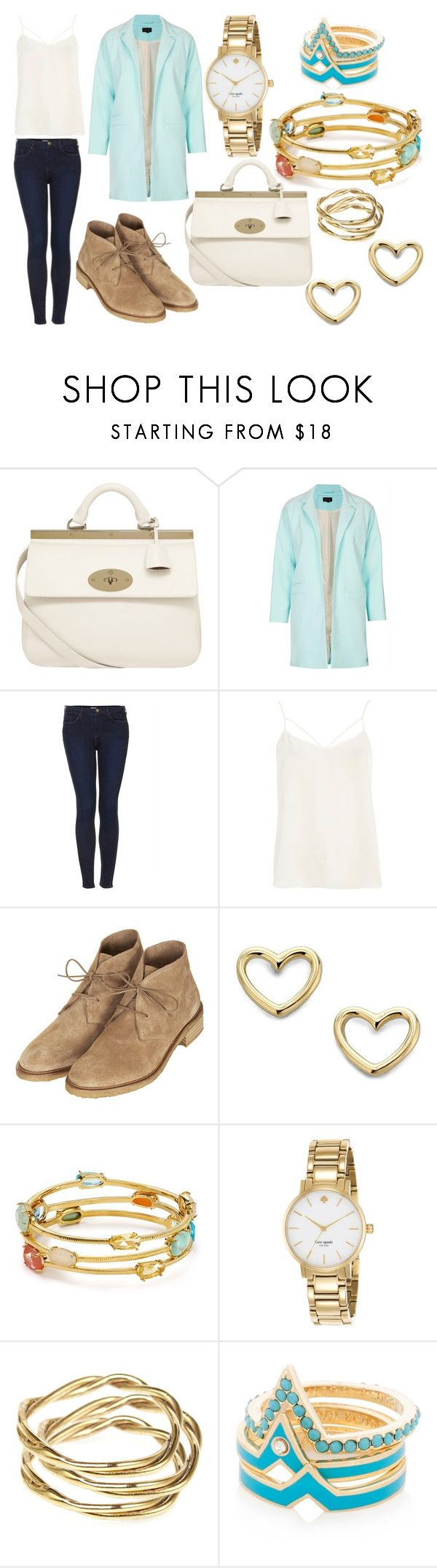 """Lunch"" by laura2703 ❤ liked on Polyvore featuring Mulberry, Topshop, River Island, Marc by Marc Jacobs, Lauren Ralph Lauren, Kate Spade, Alicia Marilyn Designs and Henri Bendel"