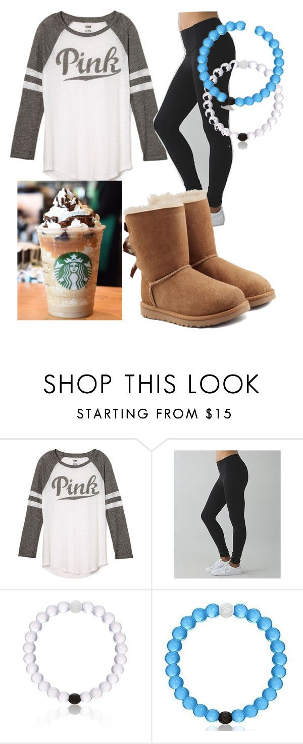"""Common white girl (don't take literally I have and wear all this)"" by lillybastos ❤ liked on Polyvore featuring Victoria's Secret, lululemon, Everest and UGG Australia"