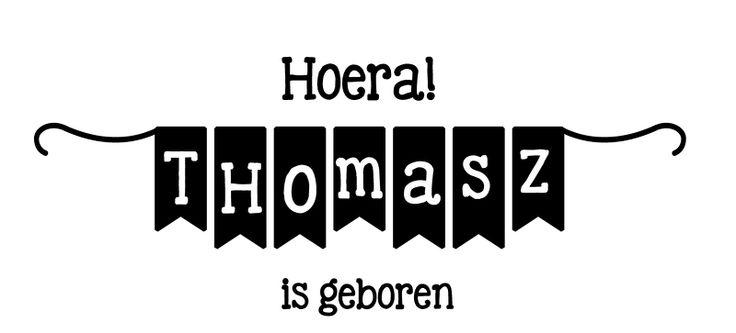 Geboortesticker type Thomasz