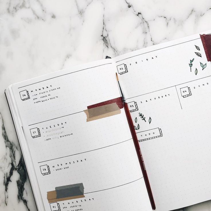 16 Minimalist Bullet Journal Spreads