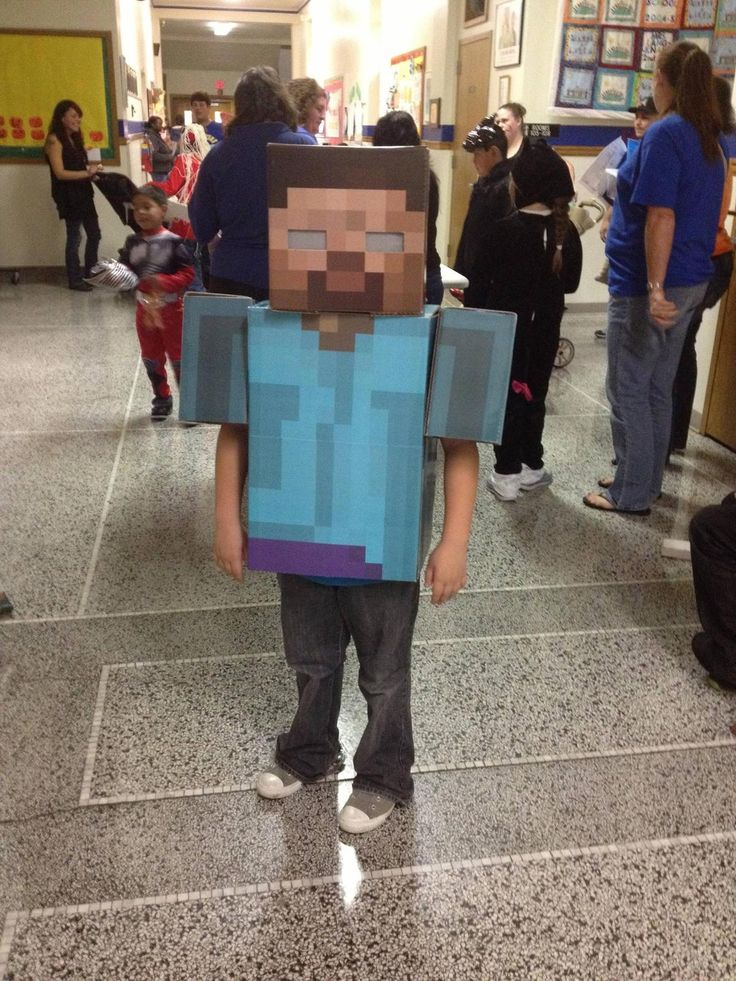 Here's the Herobrine (Minecraft) costume I made for my son. Easiest costume ever - Imgur