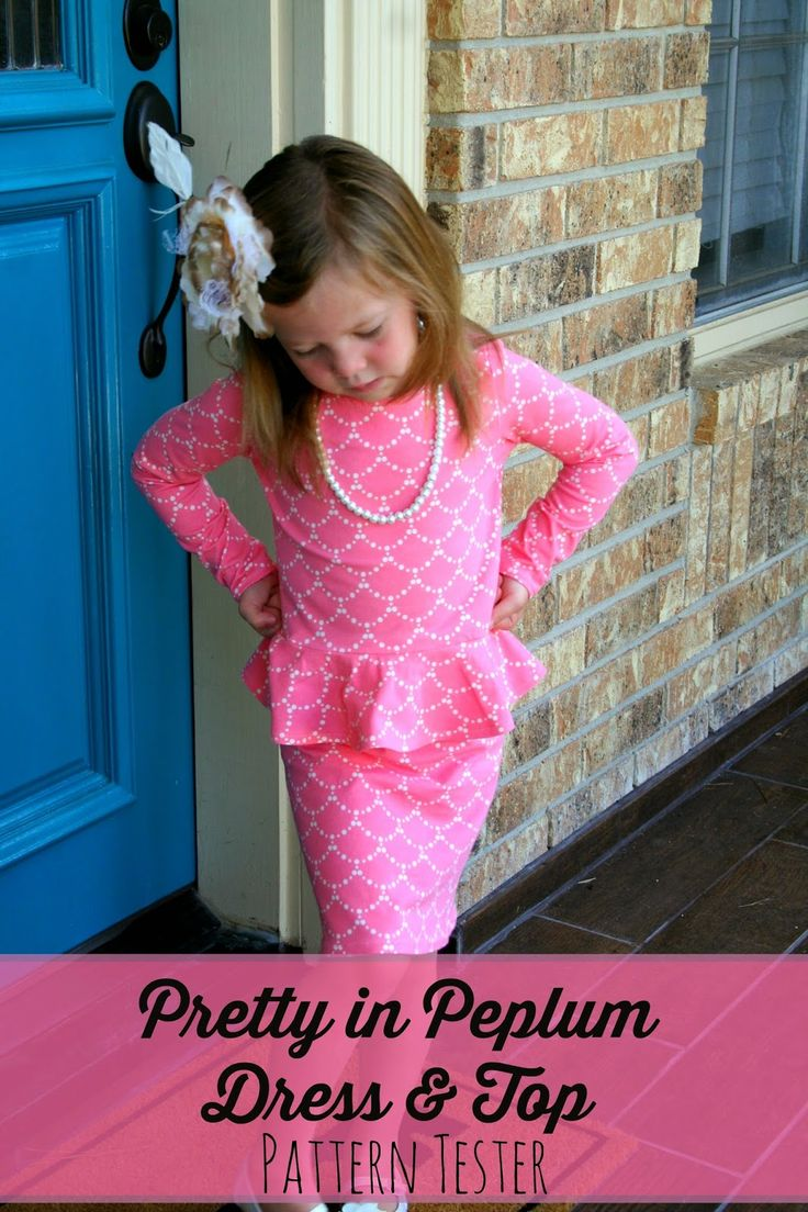 Pretty in Peplum Dress- beautiful peplum dress and top! Check the post for a link to the pattern!