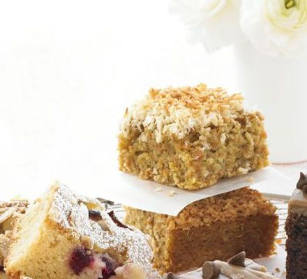 If you're looking for a treat for afternoon tea, or something to make for a cake sale, try this crunchy-topped traybake