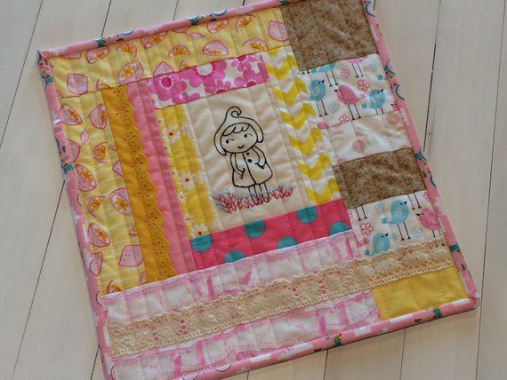 Doll Quilts Embroidered Quilt Doll Blanket Handmade Mini Quilt Patchwork Quilt Quilt Small Dolls Blanket Christm Embroidered Quilts Doll Quilt Quilts